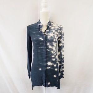 Akris 100% Silk Print Buttondown size 4